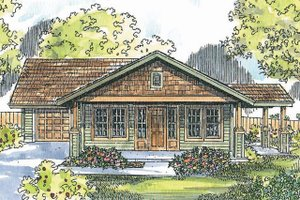 House Design - Craftsman Exterior - Front Elevation Plan #124-725