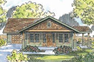 Craftsman Exterior - Front Elevation Plan #124-725