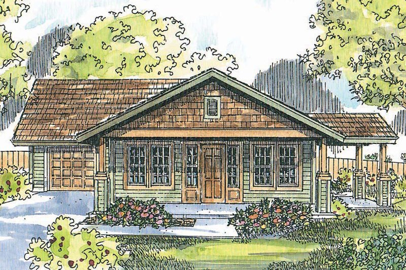 Craftsman Exterior - Front Elevation Plan #124-725