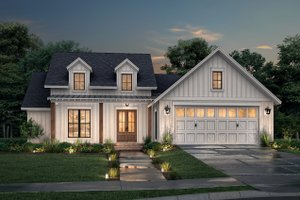 House Blueprint - Farmhouse Exterior - Front Elevation Plan #430-250