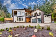 Contemporary Style House Plan - 3 Beds 4 Baths 4730 Sq/Ft Plan #1066-24 Exterior - Front Elevation