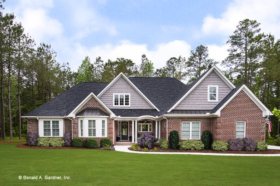 House Design - European Exterior - Front Elevation Plan #929-25