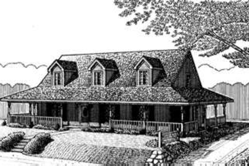 Ranch Exterior - Front Elevation Plan #410-212