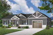 Ranch Style House Plan - 2 Beds 1 Baths 988 Sq/Ft Plan #23-2653 Exterior - Front Elevation