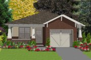 Cottage Style House Plan - 2 Beds 2 Baths 1389 Sq/Ft Plan #63-149 Exterior - Front Elevation