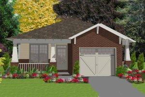 Cottage Exterior - Front Elevation Plan #63-149