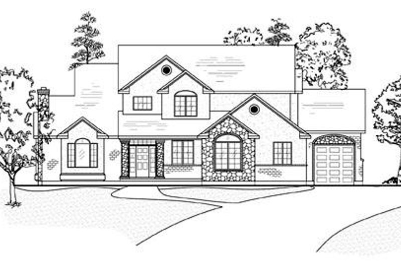 Dream House Plan - Traditional Exterior - Front Elevation Plan #5-210