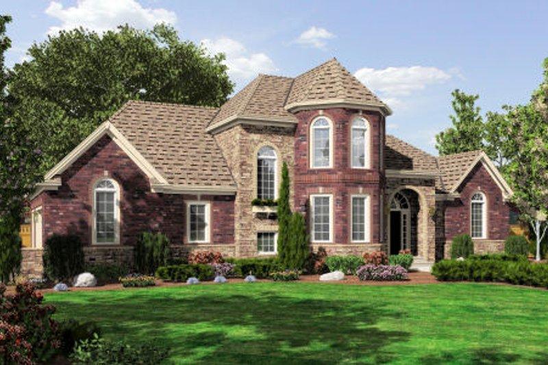 Dream House Plan - European Exterior - Front Elevation Plan #46-465