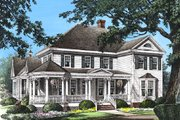 Southern Style House Plan - 4 Beds 3.5 Baths 2825 Sq/Ft Plan #137-118 Exterior - Front Elevation