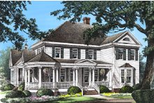Southern Exterior - Front Elevation Plan #137-118
