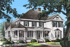 Dream House Plan - Southern Exterior - Front Elevation Plan #137-118