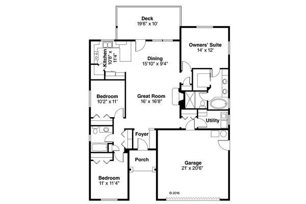Traditional Floor Plan - Main Floor Plan Plan #124-1027