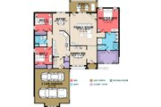 European Style House Plan - 3 Beds 2 Baths 1959 Sq/Ft Plan #63-256 Floor Plan - Main Floor Plan