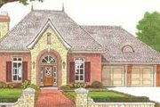 European Style House Plan - 3 Beds 2.5 Baths 2069 Sq/Ft Plan #310-312 Exterior - Front Elevation