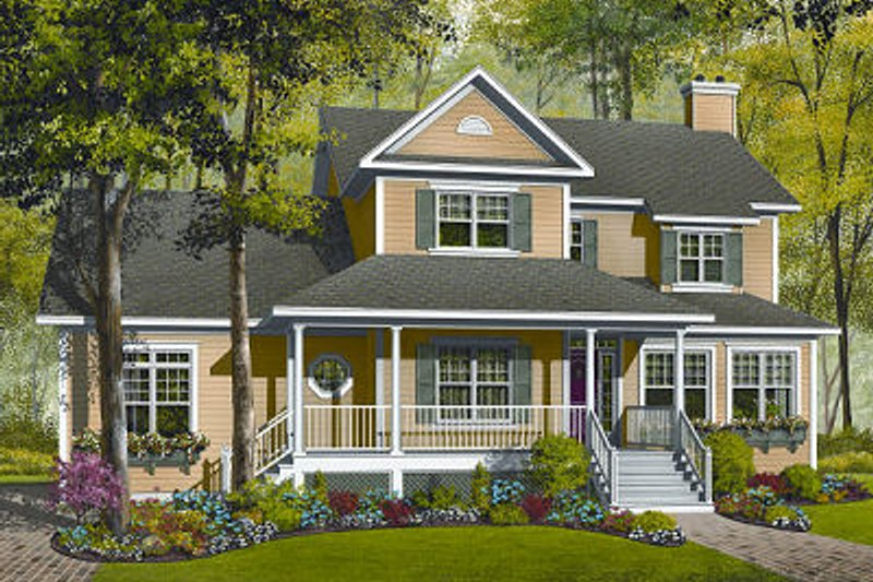 Dream House Plan - Traditional Exterior - Front Elevation Plan #23-841
