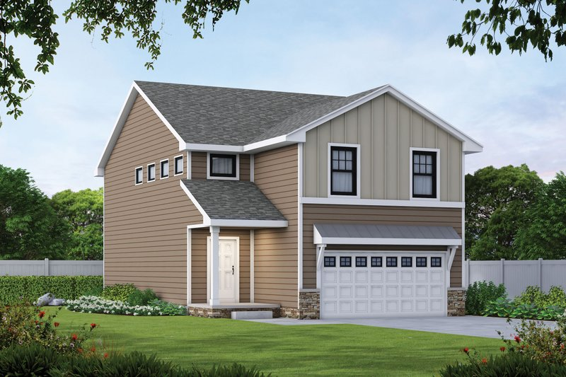Architectural House Design - Traditional Exterior - Front Elevation Plan #20-2432