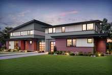 Architectural House Design - Contemporary Exterior - Front Elevation Plan #48-1026