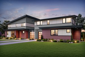 Contemporary Exterior - Front Elevation Plan #48-1026