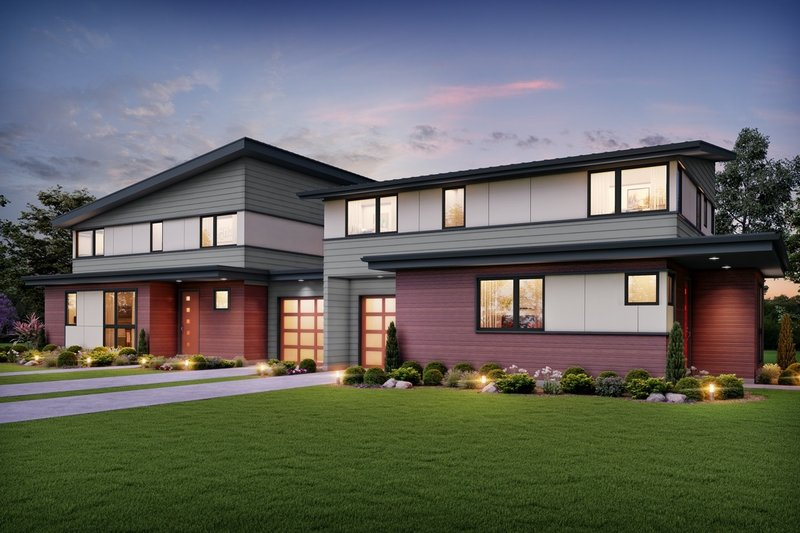 Home Plan - Contemporary Exterior - Front Elevation Plan #48-1026