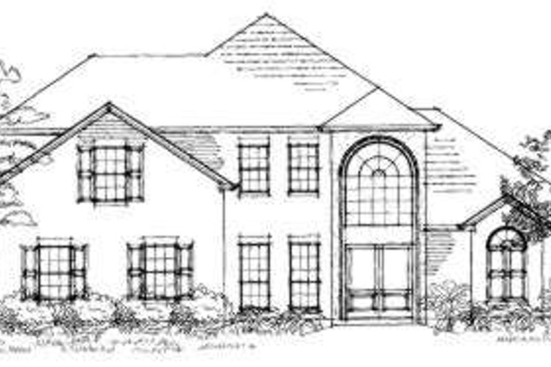 European Exterior - Front Elevation Plan #325-118