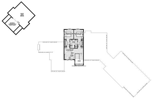 Craftsman Floor Plan - Upper Floor Plan Plan #928-335