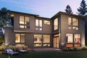 Contemporary Style House Plan - 4 Beds 4.5 Baths 4683 Sq/Ft Plan #1066-132 Exterior - Rear Elevation