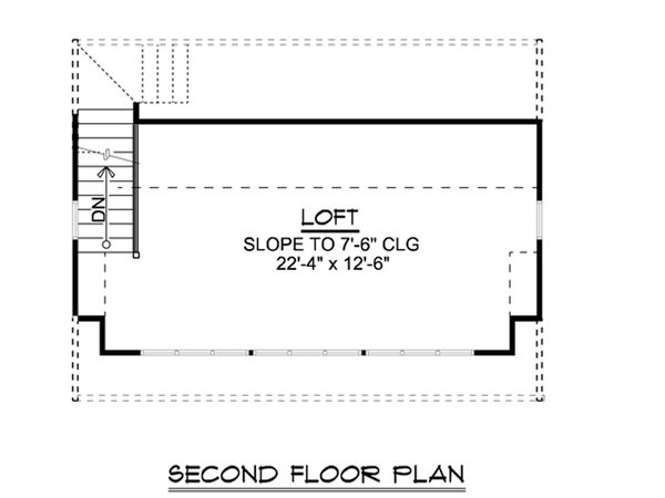 Country Floor Plan - Upper Floor Plan Plan #1064-24