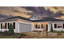 Country Exterior - Front Elevation Plan #930-364