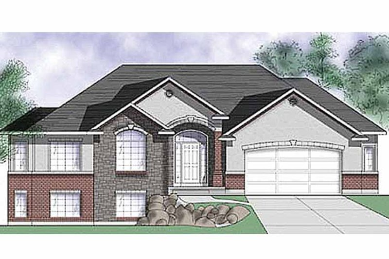 Traditional Exterior - Front Elevation Plan #945-13 - Houseplans.com