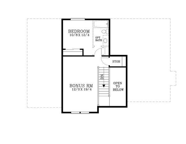Craftsman Floor Plan - Upper Floor Plan Plan #53-582