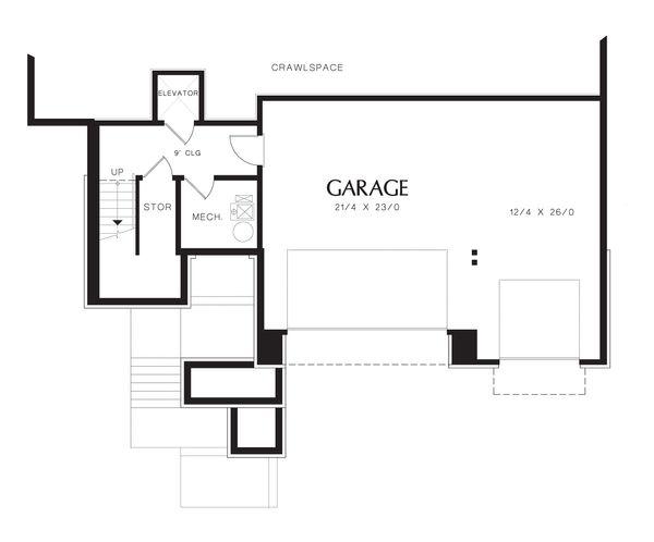 Modern Floor Plan - Lower Floor Plan Plan #48-613