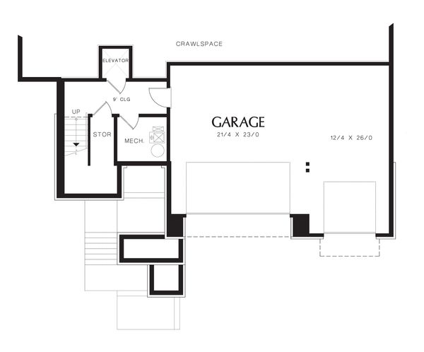 Modern Floor Plan - Lower Floor Plan Plan #48-613