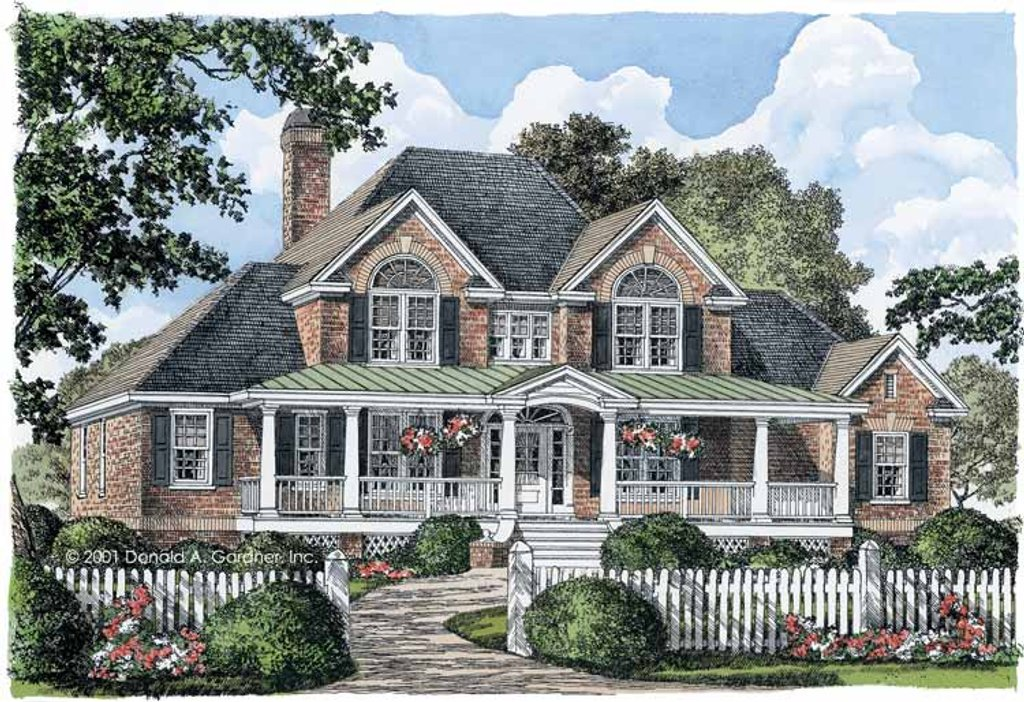 Country style house plan 4 beds 3 5 baths 2586 sq ft for Country style floor plans
