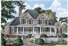 Architectural House Design - Country Exterior - Front Elevation Plan #929-527