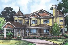 House Plan Design - Victorian Exterior - Front Elevation Plan #417-668