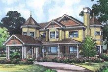 Dream House Plan - Victorian Exterior - Front Elevation Plan #417-668