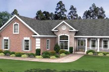 Country Exterior - Front Elevation Plan #56-695