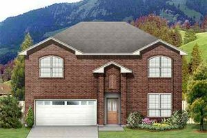 Architectural House Design - Traditional Exterior - Front Elevation Plan #84-123