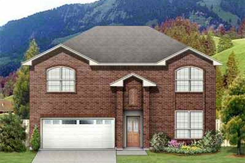 Traditional Exterior - Front Elevation Plan #84-123 - Houseplans.com