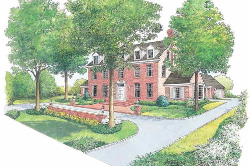 Colonial Exterior - Front Elevation Plan #1040-17 - Houseplans.com