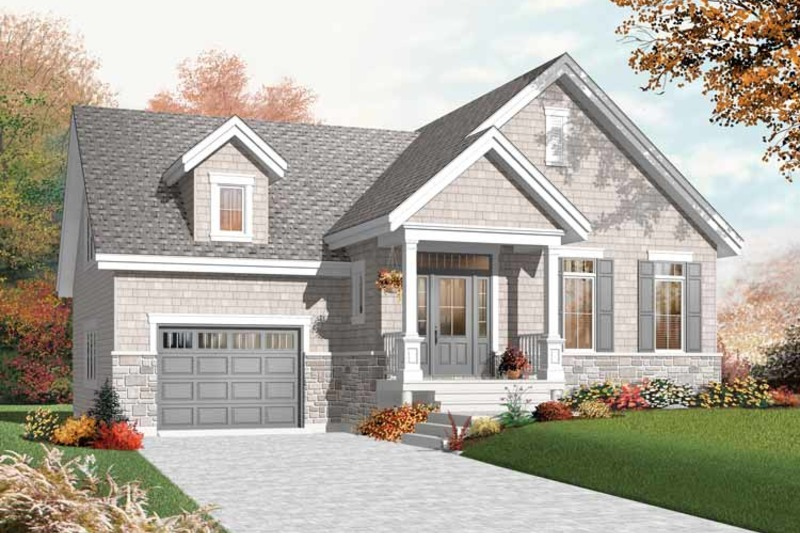 Bungalow Exterior - Front Elevation Plan #23-2434