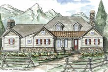 Country Exterior - Front Elevation Plan #54-271