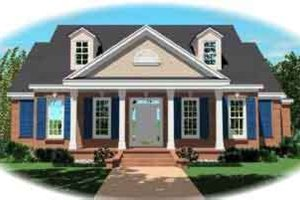 Colonial Exterior - Front Elevation Plan #81-610
