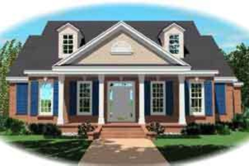 Colonial Style House Plan - 3 Beds 2.5 Baths 2554 Sq/Ft Plan #81-610 Exterior - Front Elevation