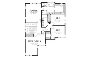 Contemporary Style House Plan - 4 Beds 2.5 Baths 2874 Sq/Ft Plan #48-705 Floor Plan - Upper Floor