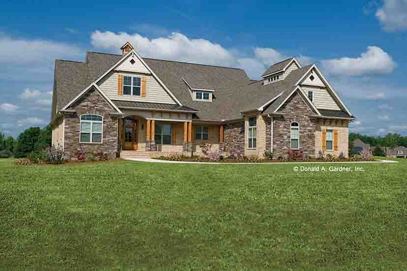 House Plan Design - Craftsman Exterior - Front Elevation Plan #929-905