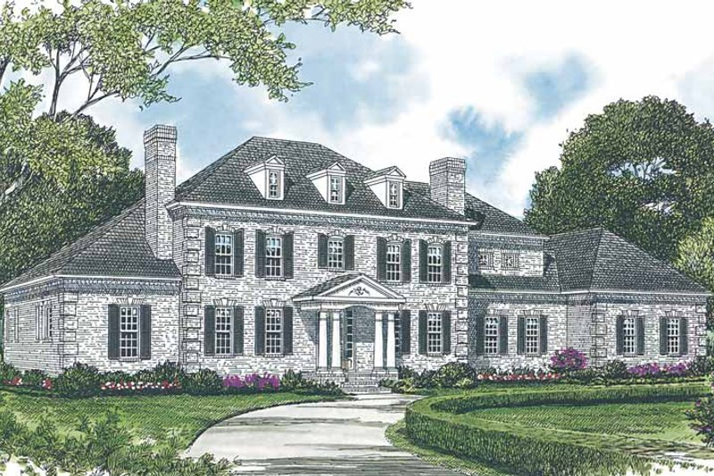 Dream House Plan - Colonial Exterior - Front Elevation Plan #453-591