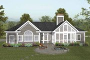 Craftsman Style House Plan - 4 Beds 2.5 Baths 2000 Sq/Ft Plan #56-689 Exterior - Rear Elevation