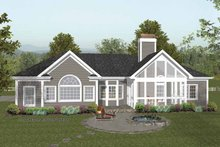 Craftsman Exterior - Rear Elevation Plan #56-689