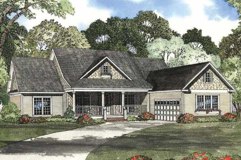 Colonial Exterior - Front Elevation Plan #17-2758 - Houseplans.com